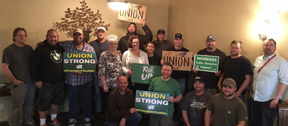 Union Members Hang Strong